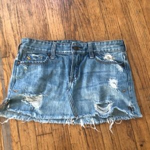 Abercrombie and Fitch short denim mini skirt